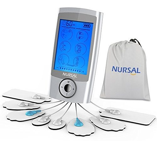 NURSAL TENS Unit Rechargeable Electronic Pain Relief Massager With 8 Pads