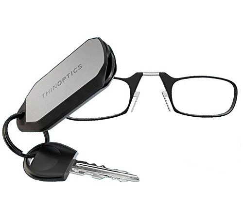 ThinOptics Reading Glasses + Keychain Case | Black Frames, 2.50 Strength - Amazon Bookstore Featured Product